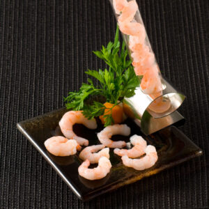 FROZEN Cooked and peeled coldwater prawns FRESHPACK