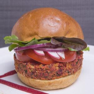 Steak végétal de betteraves surgelé - sans gluten, vegan & végétarien