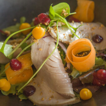 Frozen Yellowfin tuna MSC, HPP, sliced, marinated & ready to eat